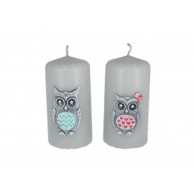 Свеча Funny Owls 50x100 mm
