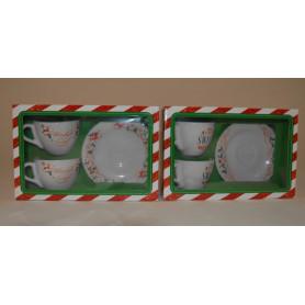 Szkło zestaw filiżanek podwójnych
