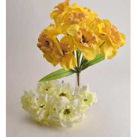 Искусственные цветы: букет нарцисс