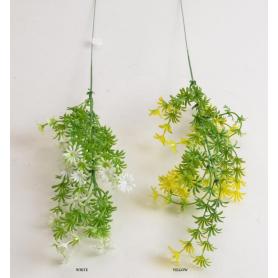 Искусственные цветы: зелено-желтая веточка