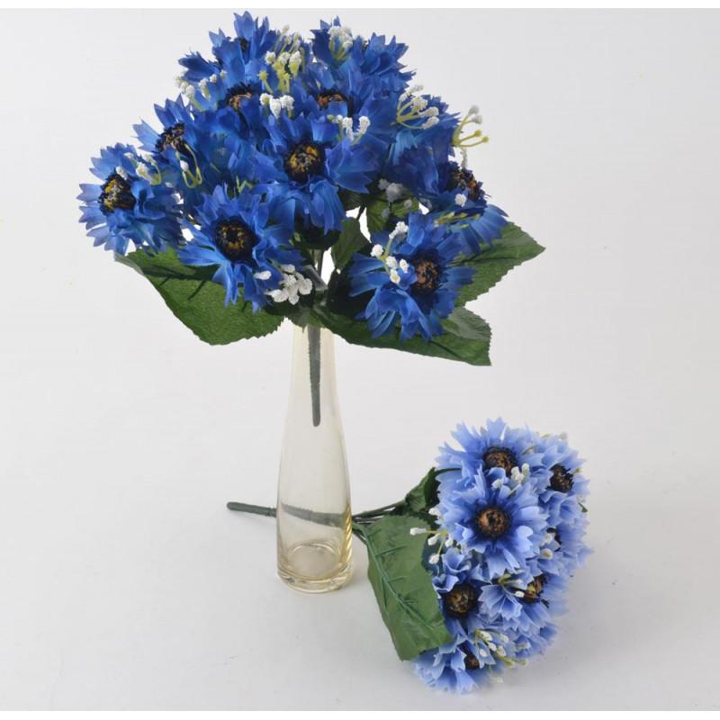 Kwiaty sztuczne bukiet chabrów