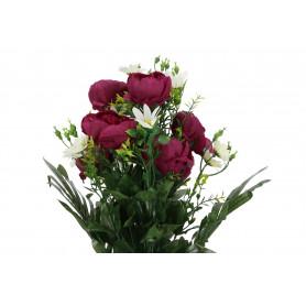 Kwiaty sztuczne piwonia/rumianek bukiet