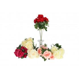 Kwiaty sztuczne bukiet róż na wysokim stelażu
