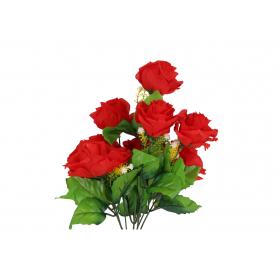 Kwiaty sztuczne bukiet róż 40 cm, stelaż 9