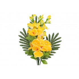 Kwiaty sztuczne: płaski bukiet storczyka