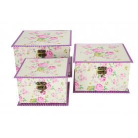 Papierowy zestaw kuferków 3w1