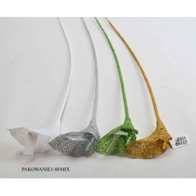 Kwiaty sztuczne kalla brokat mix