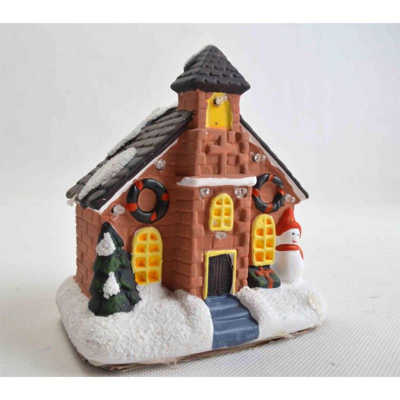 Ceramiczny domek bożonarodzeniowy KOLOR LED