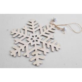 Деревянная Рождественская снежинка