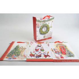 Рождественский подарочный пакет (40x30x12см )