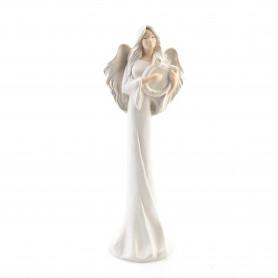 Ceramika figurka MIRA Z HARFĄ 39cm