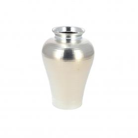 Ceramiczny wazon srebrny paski