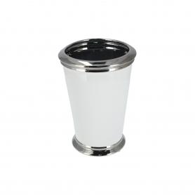 Ceramiczny wazon biały 25x17x17 cm