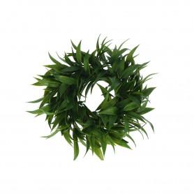 Kwiaty sztuczne wianek zielone liście