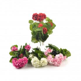 Kwiat sztuczny bukiet pelargonia 38cm,