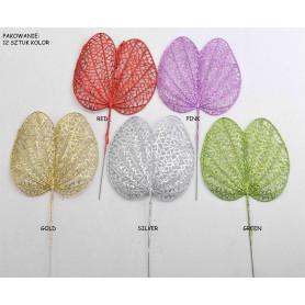 Рождественский искусственный цветок: Листья в блестках