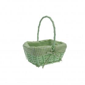 Wiklina art. dekoracyjne koszyk prostokąt zieleń