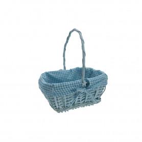 Wiklina art. dekoracyjne koszyk prostokąt błękit
