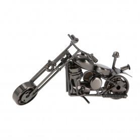 Metalowy motocykl ze stopką