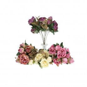 Kwiaty sztuczne bukiet peonia