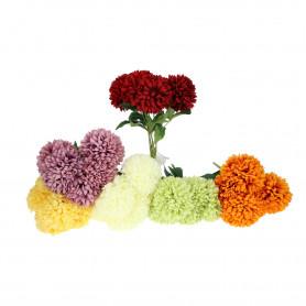Kwiaty sztuczne bukiet chryzantema kulka 45 cm