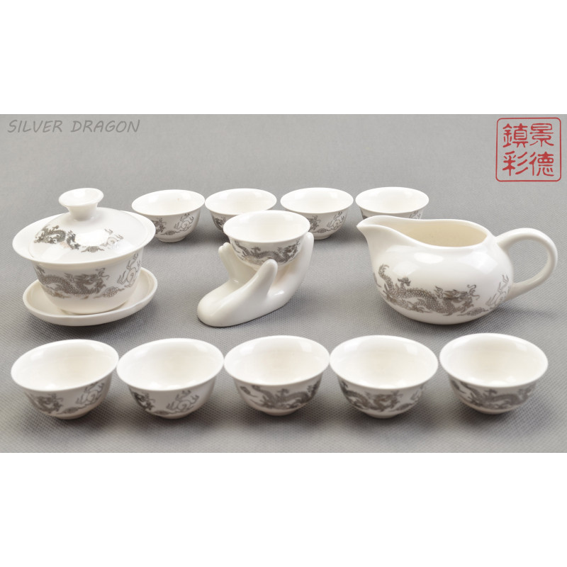 Ceramika chińska - komplet filiżanek chinese porcelain tea