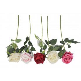 Kwiaty sztuczne róża welurowa, gałązka