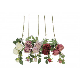Kwiaty sztuczne róża gałązka 3 kwiaty