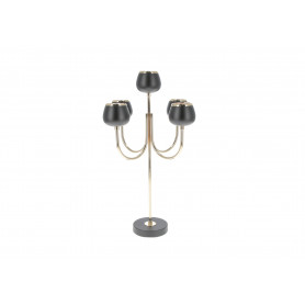 Metal świecznik BLACK & GOLD 59x25x12cm