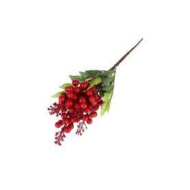 Kwiaty sztuczne jarzębina gałązka 35cm