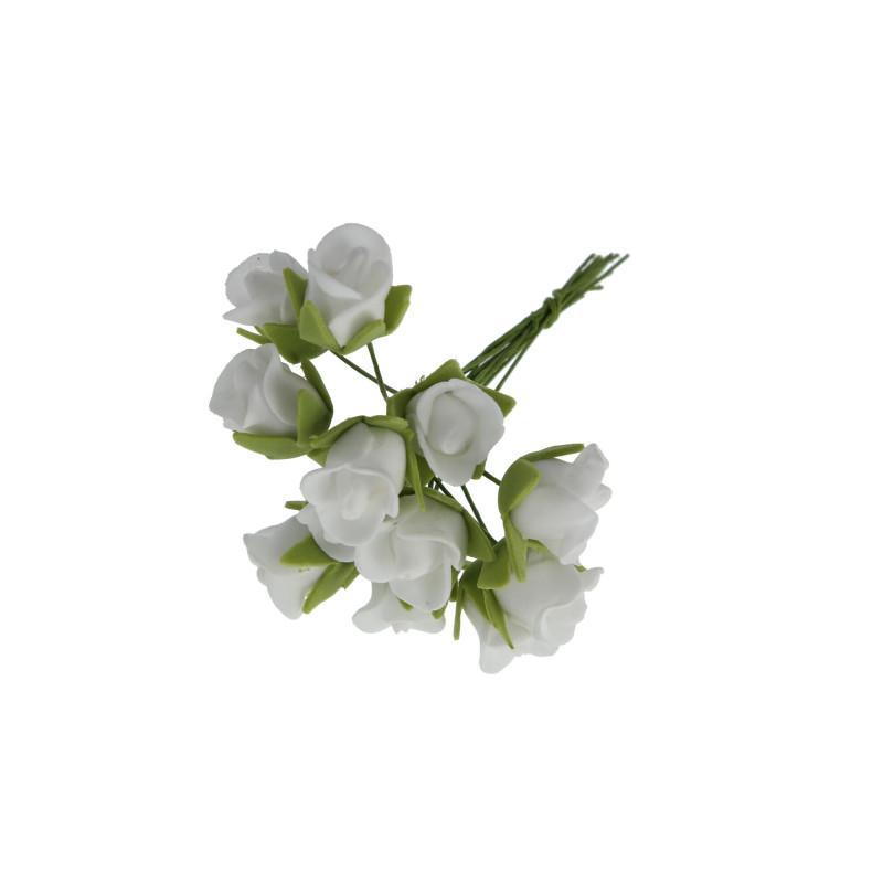 Kwiaty sztuczne piankowe róże pąk (wiązka)