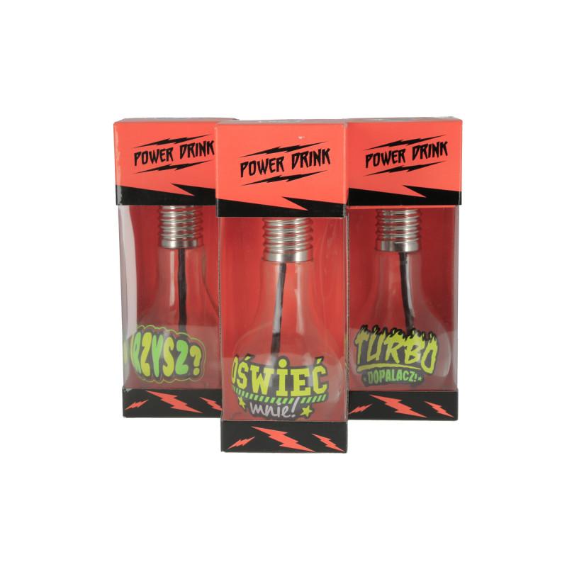 Szklana żarówka 400ml mix