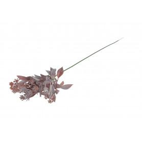 Kwiat sztuczny wpinka listki plastikowa