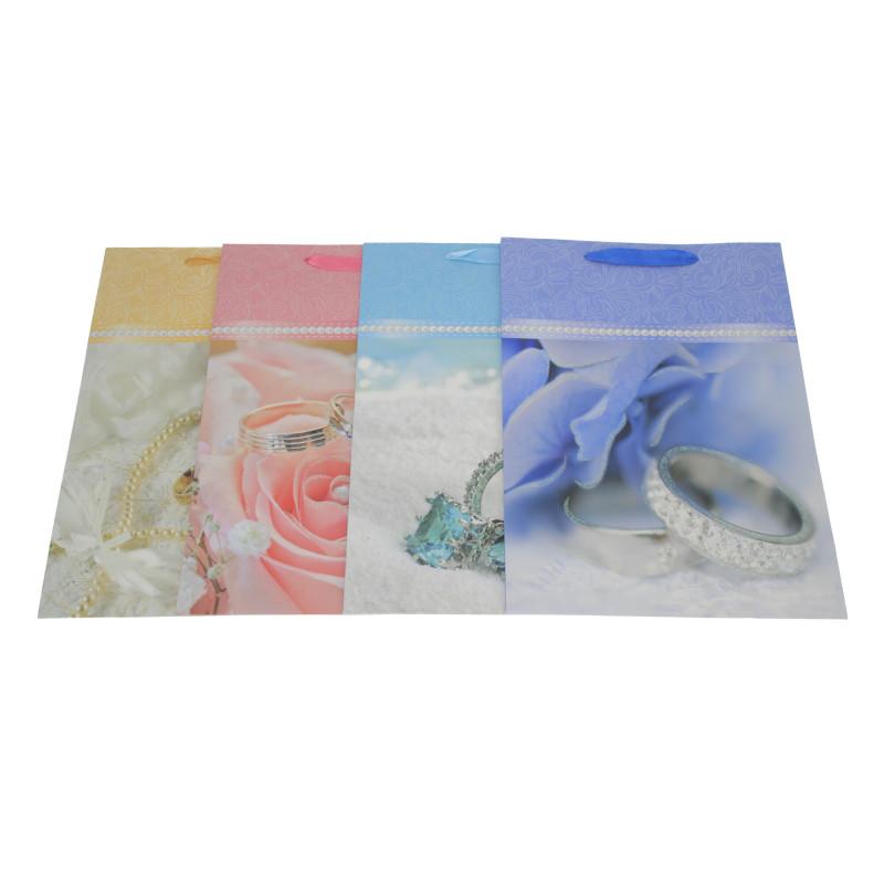 Papier torebka ślubne kwiaty 30x42x12cm