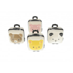Ceramika skarbonka walizeczka 10x8x6cm