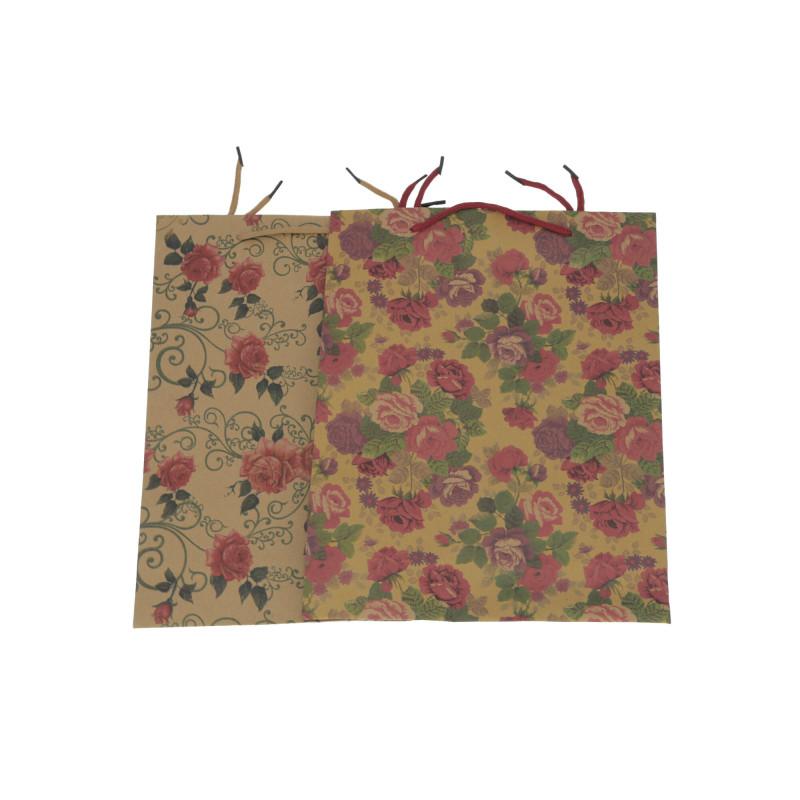 Papier torebka eko kwiaty 33x25x8 cm
