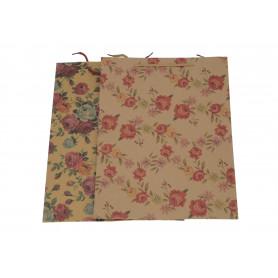 Papier torebka eko kwiaty 37x27x10 cm