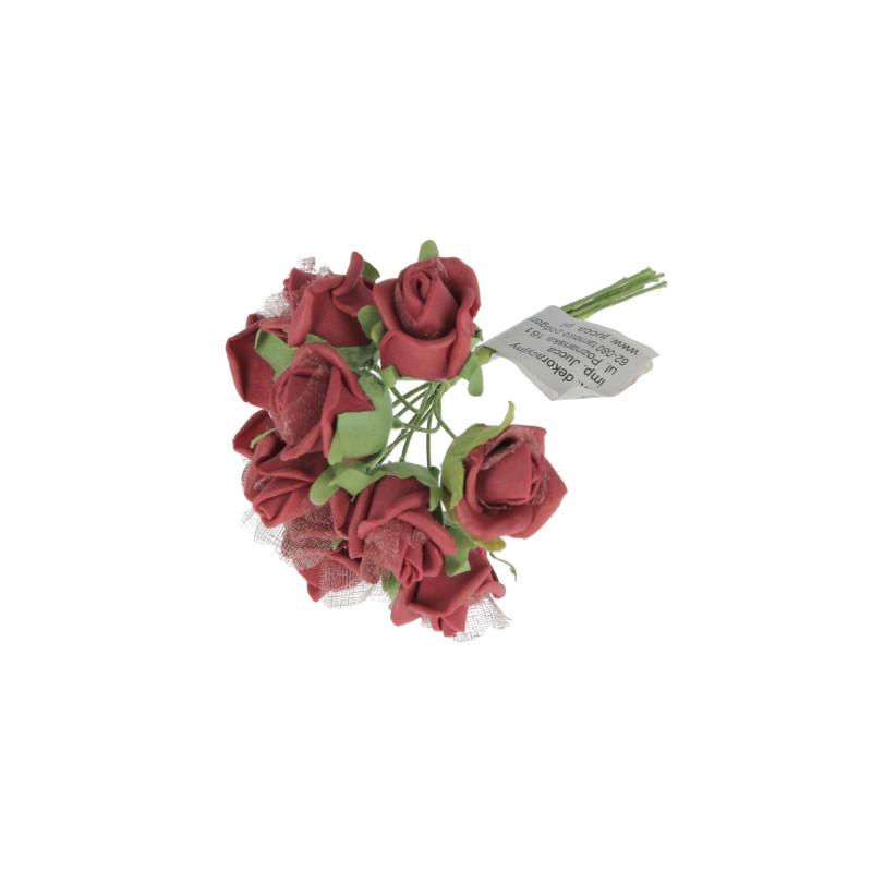 WIĄZKA PIANKOWYCH RÓŻYCZEK-Kwiaty sztuczne