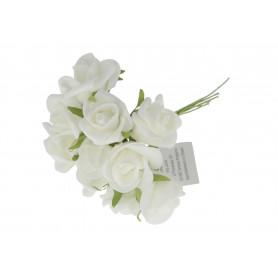 Kwiaty sztuczne róża pianka buk.