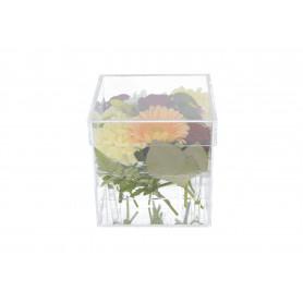 Tw.sztuczne, przeźroczysty FLOWER BOX