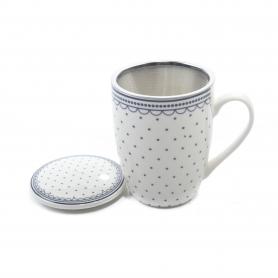 Ceramiczny kubek 350 ml z zaparzaczem