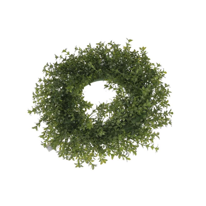 Kwiaty sztuczne wianek zielony