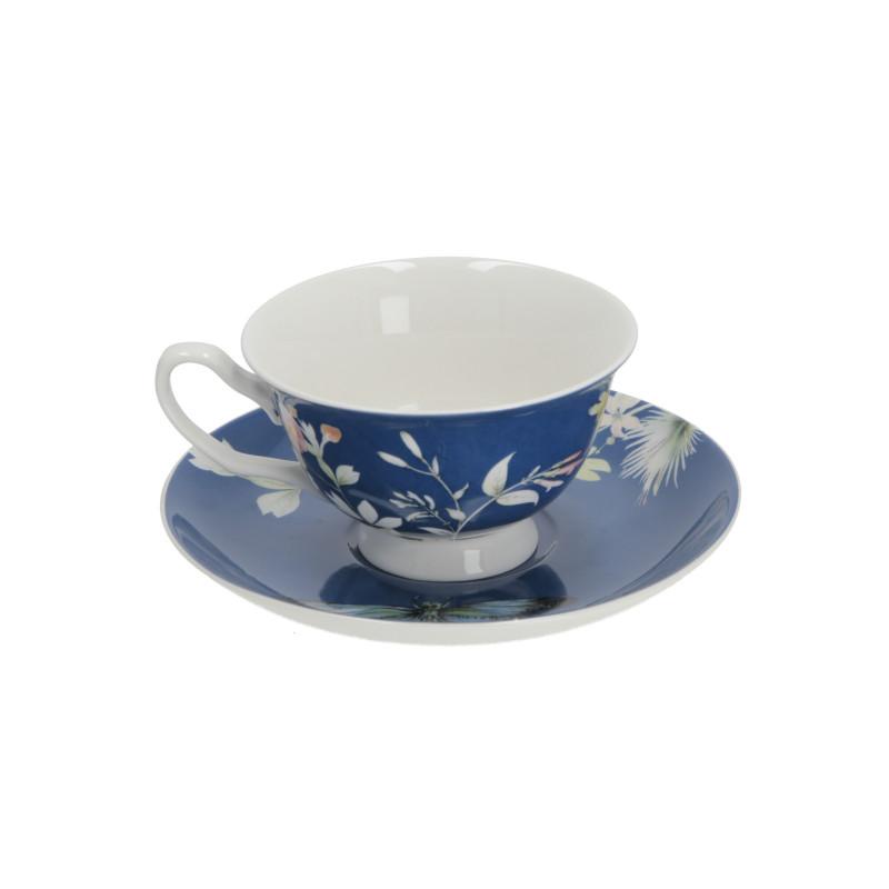 Ceramika filiżanka ze spodkiem 200 ml royal blue