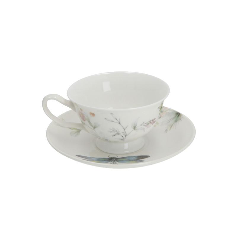 Ceramika filiżanka ze spodkiem 200 ml ważka