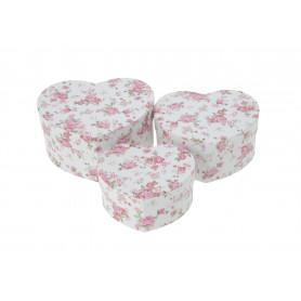 Papierowy FLOWER BOX serce 3w1