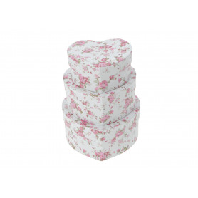 Papier FLOWER BOX serce, set of 3