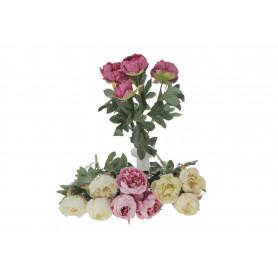 Kwiaty sztuczne bukiet piwonii