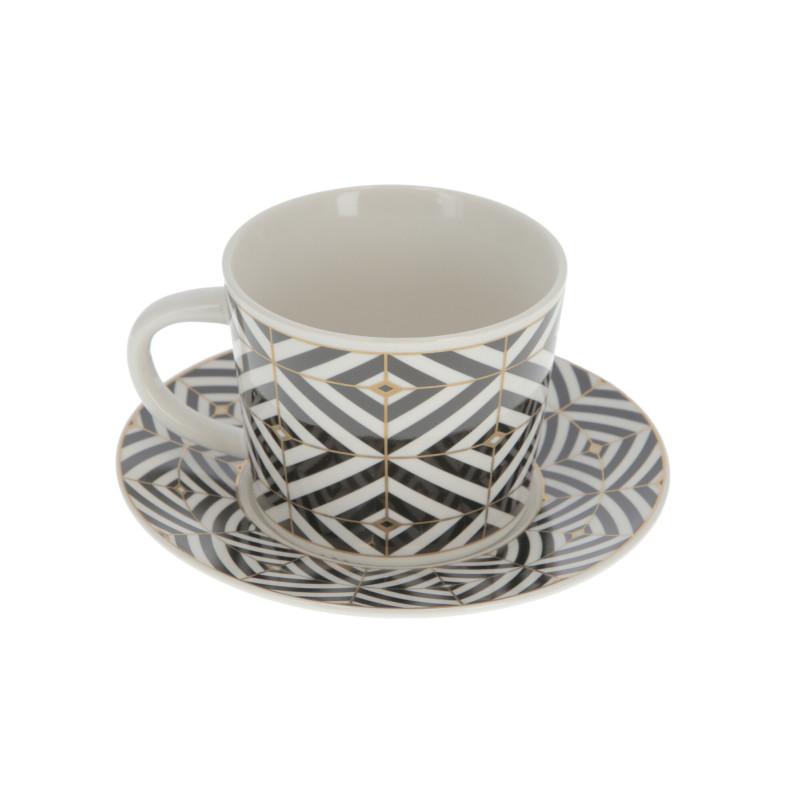 Ceramika fiiżanka ze spodkiem 350ml