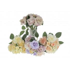 Kwiaty sztuczne bukiet róży x9