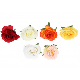 Kwiaty sztuczne rose head